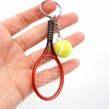 Schlüsselanhänger Tennisschläger Ball