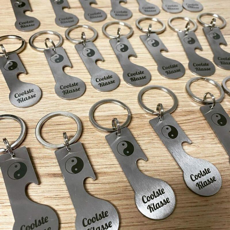 """Einkaufswagenlöser """"Style&Open"""" Schlüsselanhänger mit Logo, Symbol oder Text"""