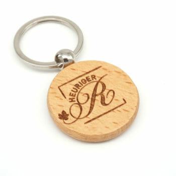 Schlüsselanhänger Holz Rund