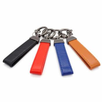 Schlüsselanhänger Kunstlederband Karabinerring