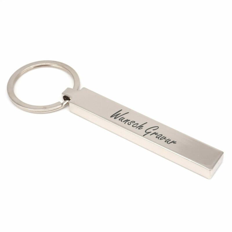 Schlüsselanhänger Blocky mit Wunschgravur