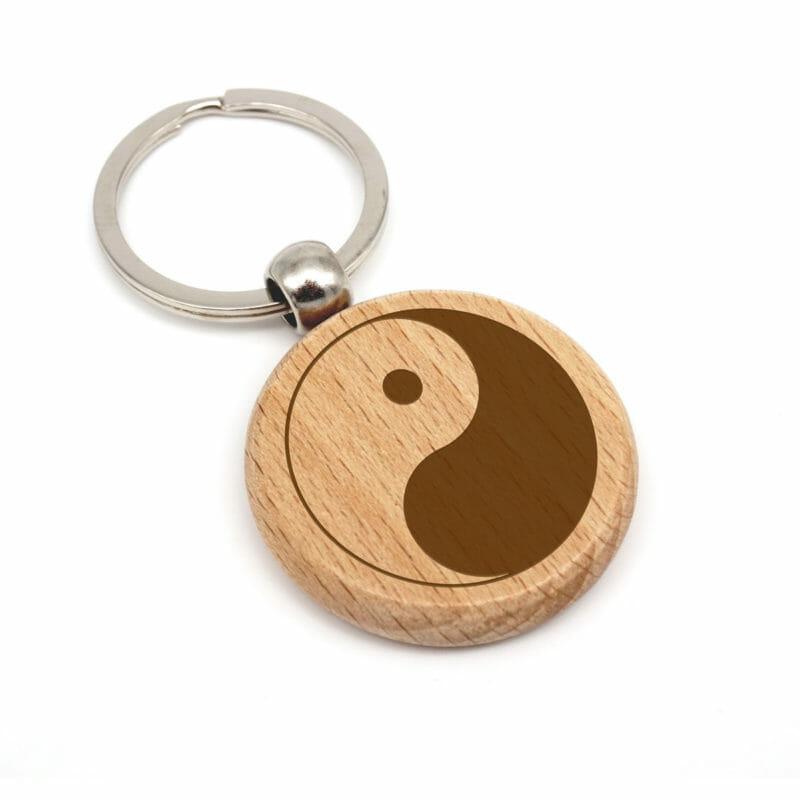 Yin Yang Holzanhänger