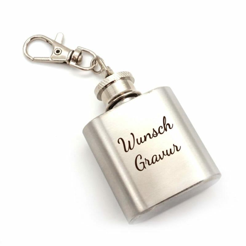 Schlüsselanhänger Mini Flachmann