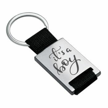 Schlüsselanhänger Alicante silber zur Geburt its a boy
