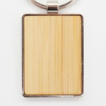 Schlüsselanhänger Bambus Chrome