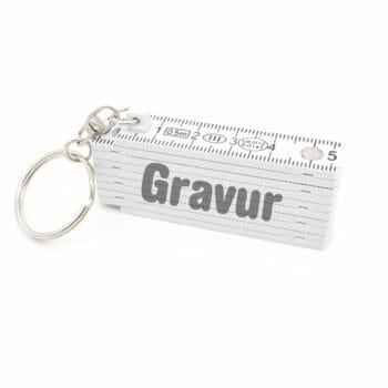 Schlüsselanhänger Mini Zollstock inkl. Gravur
