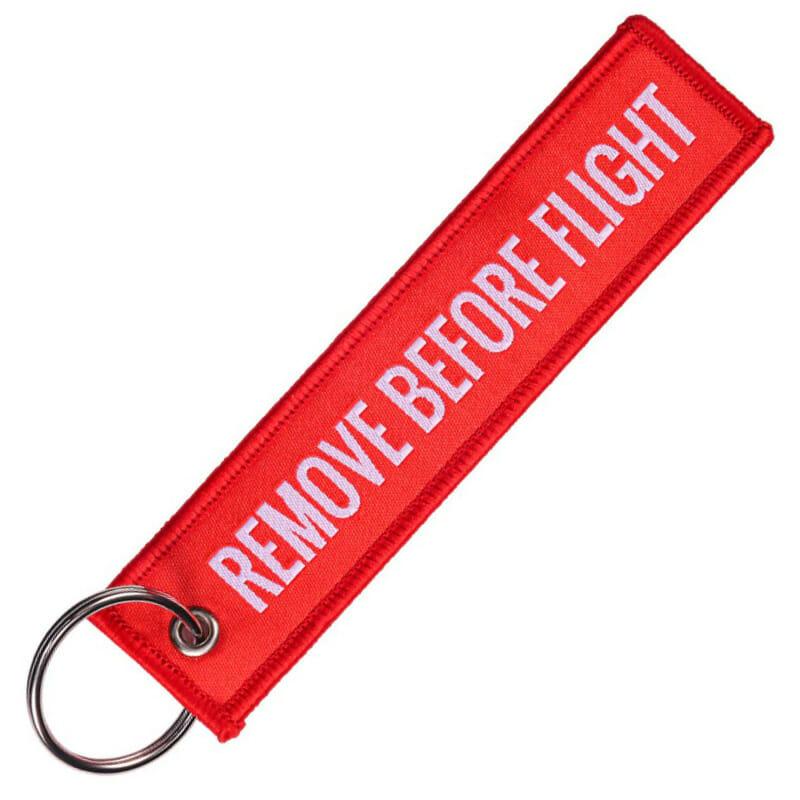 Schlüsselanhänger remove befor flight