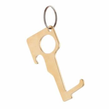 Schlüsselanhänger Zero Contact Messing