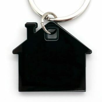 Schlüsselanhänger Haus schwarz
