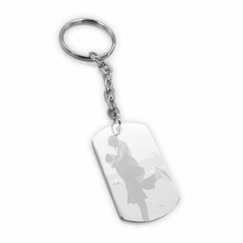 Schlüsselanhänger Metsa Dogtag silber mit Foto