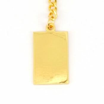 MetazaDogTag Eckig Gold Maske