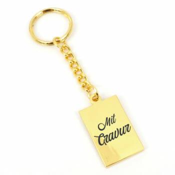 Schlüsselanhänger Metsa eckig gold